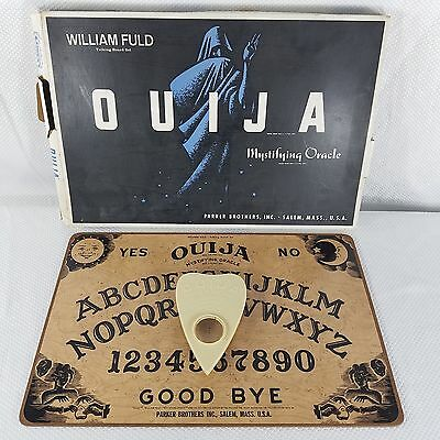 Ouiji Mystical Oracle William Fuld Talking Board Parker Brothers Salem Ma 60s