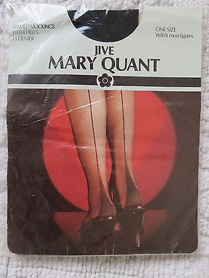 Vintage Mary Quant 'jive' Seamed Stockings, Black, One Size