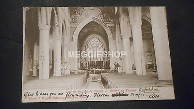 Berkshire: Henley On Thames Interior Of St Mary's Church 1903 Postcard