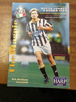 1995  Anglo Italian English Cup Final----------Notts County v Stoke