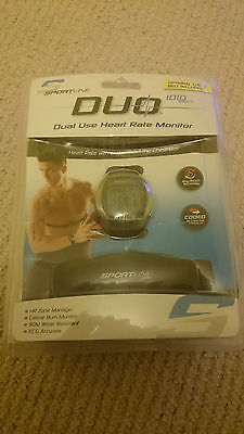 Sportline Duo 1010 Men's Dual Use Heart Rate Monitor Water Resistant To 50M