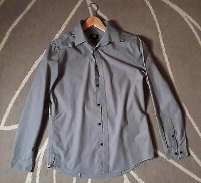 Chemise homme gris H&M  taille M coupe slim