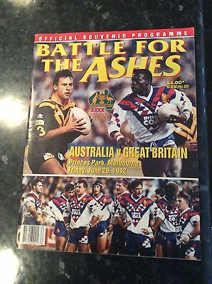 Played Abroad Australia V Great Britain 26.06.1992 At Melbourne