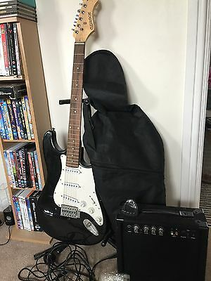 Elevation Electric Guitar, Stand, Amplifier And Bag