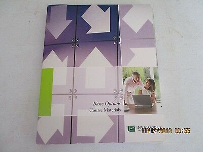 INVESTools: Basic Options Course Book Manual & dvds j163