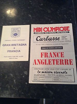2 Items Played Abroad France V Great Britain 1980 And 1982 In Narbonne / Venice