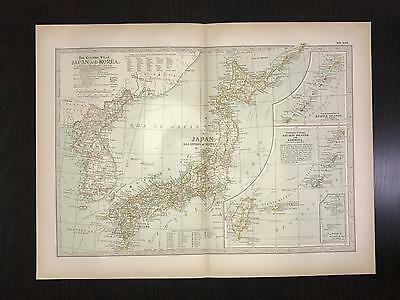 Antique 1897 Map - No. 108 Japan and Korea