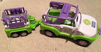 ANIMAL HOSPITAL Safari Rescue Jeep and Trailer Toy - Good Used Condition