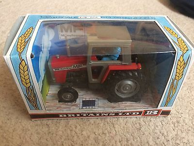 9522 Britains Massey Ferguson 595 Tractor in Reproduction Box - Scale 1:32 MF