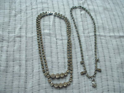 Lovely vintage chrome and paste necklaces