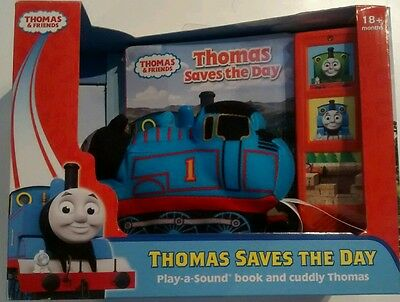 Thomas Saves the Day Plush Toy with Play-A-Sound Book