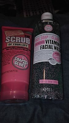 soap and glory products scrub and facial wash