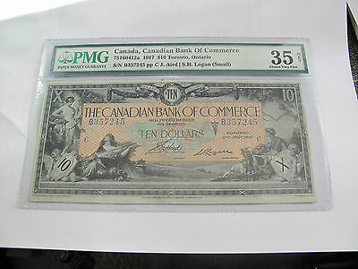 Canada Canadian Bank of Commerce $10 Dollars 1917 Large Banknote VF35-PMG