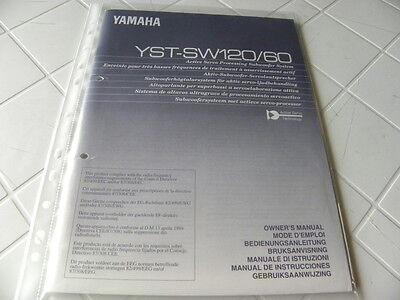 Yamaha YST-SW120/60 Owner's Manual  Operating Instructions Istruzioni   New