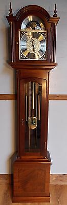 Grandfather Clock-exc condition/exc working order/autonight silence/mahogany