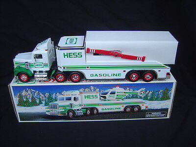 A 1995 Hess Toy Truck and Helicopter