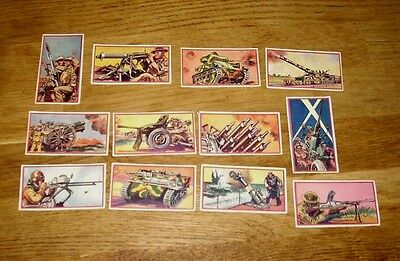 """Vintage Cards 1930s """"Guns in Action"""" - Hotspur Paper - Full set of 12"""
