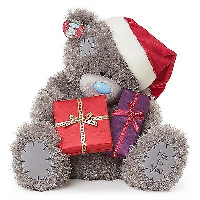 "Me To You Tatty Teddy Collectors 17"" Plush Bear - Holding Christmas Presents"