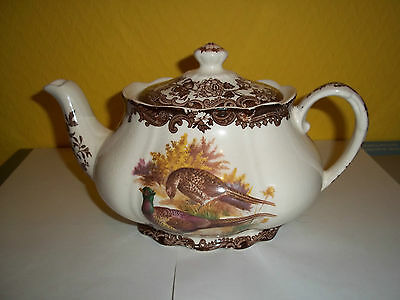 Royal Worcester Group, Pallisy bone china tea pot in the Game Series, used.