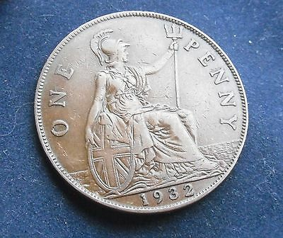 George V 1932 Penny, Good Condition.