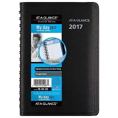 AT-A-GLANCE Daily / Monthly Appointment Book / Planner 2017, QuickNotes, 4-7/8 x