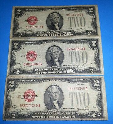 *1* 1928 Series G $2 Two Dollar Bill Currency Legal Tender Money Red Seal !!