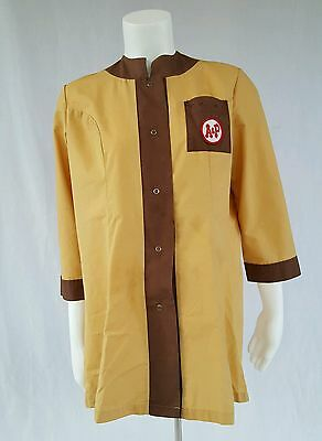 Vintage A&P Grocery Store Smock Size Small Rare Atlantic and Pacific
