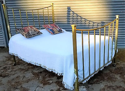 Antique brass bed from The Channel Islands