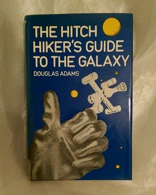 The Hitchhikers Guide to the Galaxy Book 1980s Douglas Adams Hardback SCI-FI