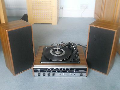 Vintage Marconiphone Record Player & Speakers