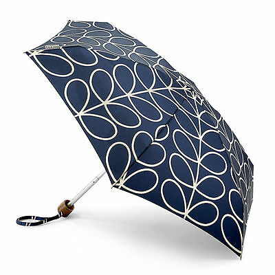 Orla Kiely by Fulton Tiny-2 Umbrella - Linear Leaf Navy - BNWT