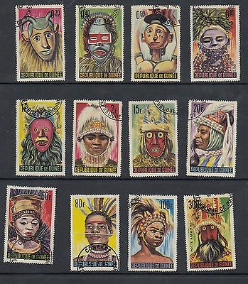 Republic of Guinea - 1965 masks and dancers set of 12(CTO)