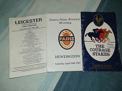 Horse Race cards, in a very good condition,  Used