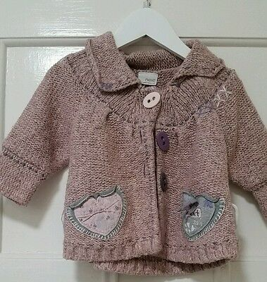 dusty pink cardigan from next age 12-18 months