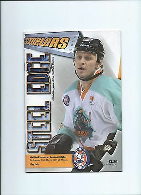 02/03 Sheffield Steelers v London Knights   March