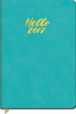 Orange Circle Studio 17-Month 2017 Leatheresque Weekly Agenda, Totally Turquoise