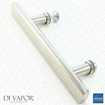 Di Vapor (R) 140mm Shower Door Handle | 14cm Hole to Hole | Stainless Steel