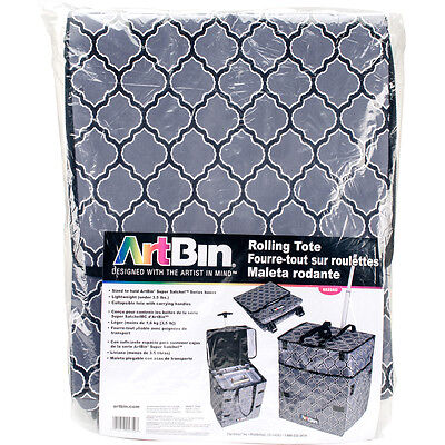 ArtBin Collapsible Rolling Tote-Gray