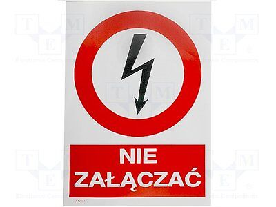 1 pc Safety sign; prohibitory; W:148mm; H:210mm; FS