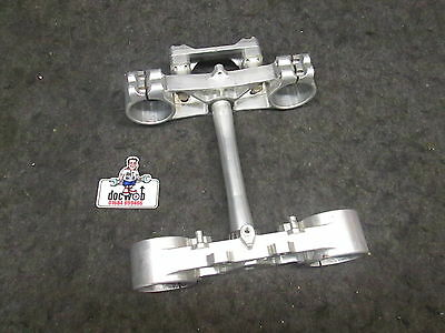Yamaha YZ250 2006-2014 Ride Engineering complete silver triple clamps set YZ2223