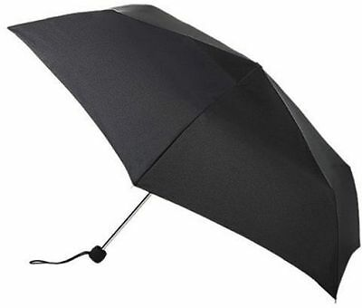 Fulton Superslim-1 Compact Lightweight Umbrella - Black - BNWT