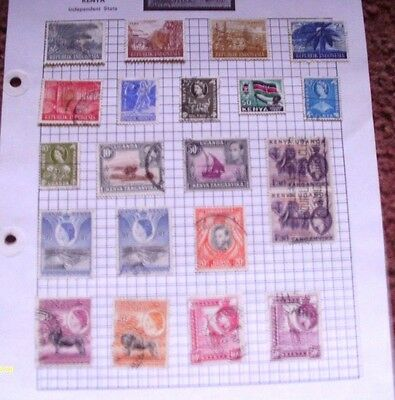 Old  Album Page Of 21  Vintage Mixed Used Stamps  See Photos For Condition
