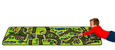Kids Play Carpet Rug Children Toy Mat Road Map Race Car Learn Pattern Education