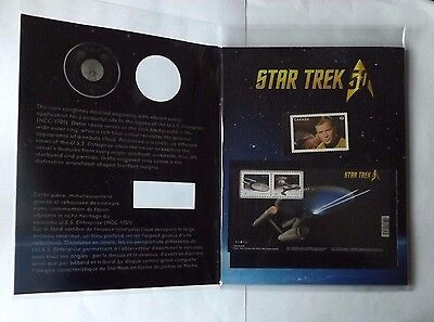 2016 Canada Star Trek Coin And Stamp Set! No Coin! 3 Stamps!