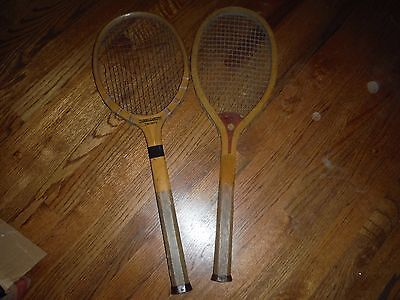 WRIGHT & DITSON The Hub & Narragansett Thirty Vintage Wooden Tennis Rackets