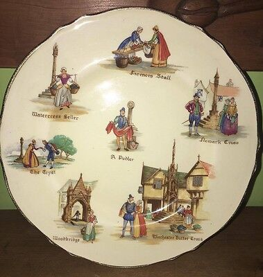 Royal Winton Old English Markets side plate VGC