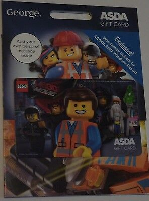 LEGO MOVIE Asda gift card rare EMMET Wyldstyle BAD COP Vetruvius LORD BUSINESS
