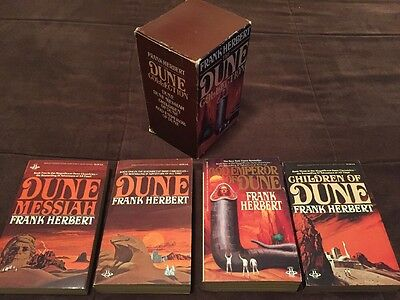 The DUNE Collection By Frank Herbert 4 Paperback Book Lot In Box