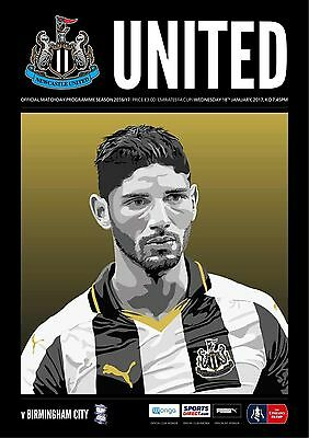 Newcastle United V Birmingham City FA Cup 3rd Round Replay Pre Order