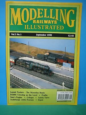 MODELLING RAILWAYS ILLUSTRATED ~ Vol 3 No 1 SEPTEMBER 1995   EXCELLENT SEE PIC'S